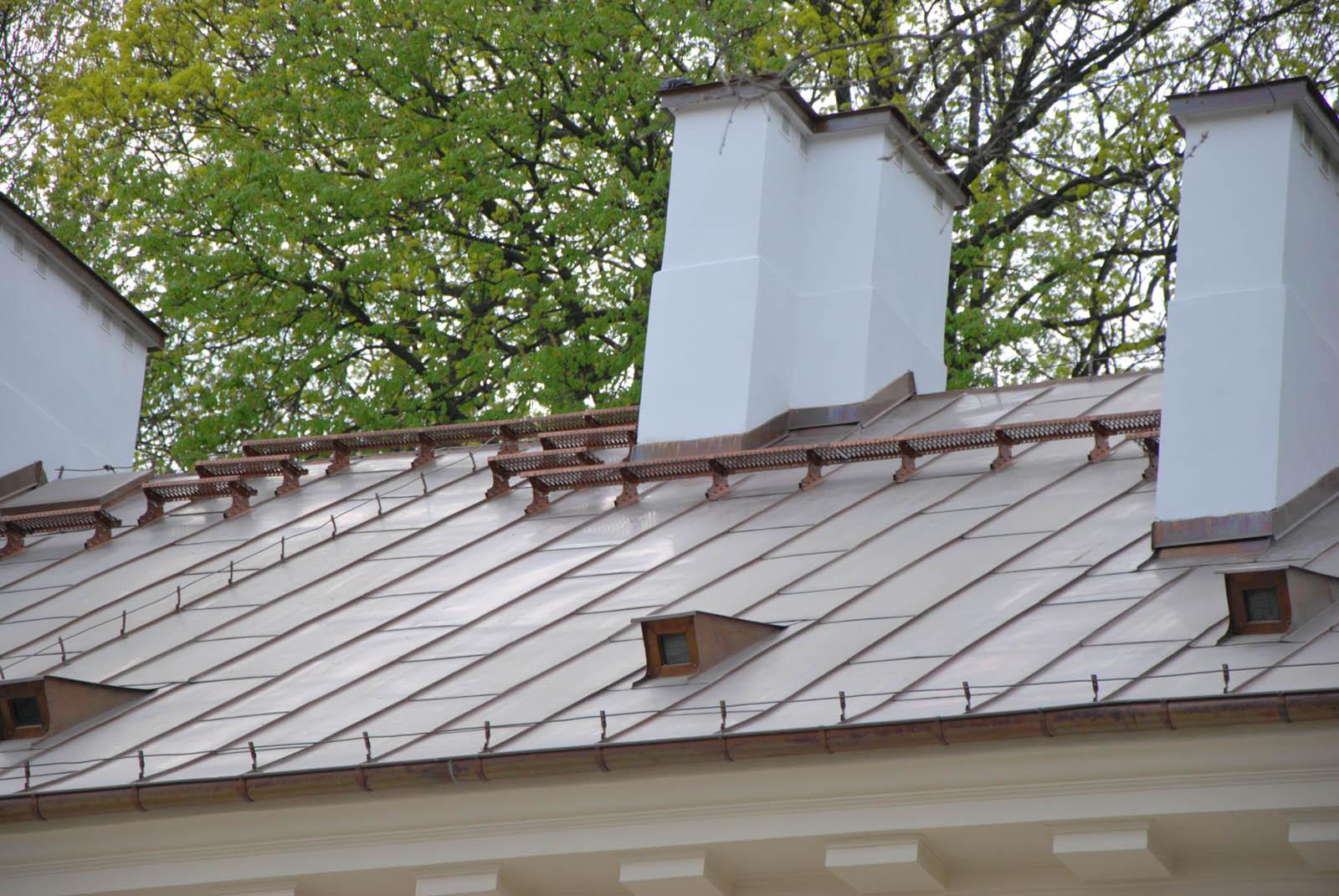 komunikacja dachowa, rąbek stojący, miedź