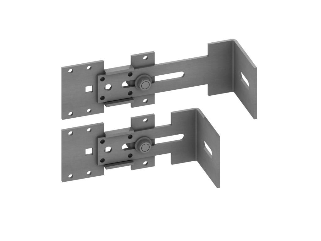 Konsola mocująca krótka do podkonstrukcji aluminiowej | Systemy przeciwśniegowe I Komunikacja Dachowa I Fasady | CEDA