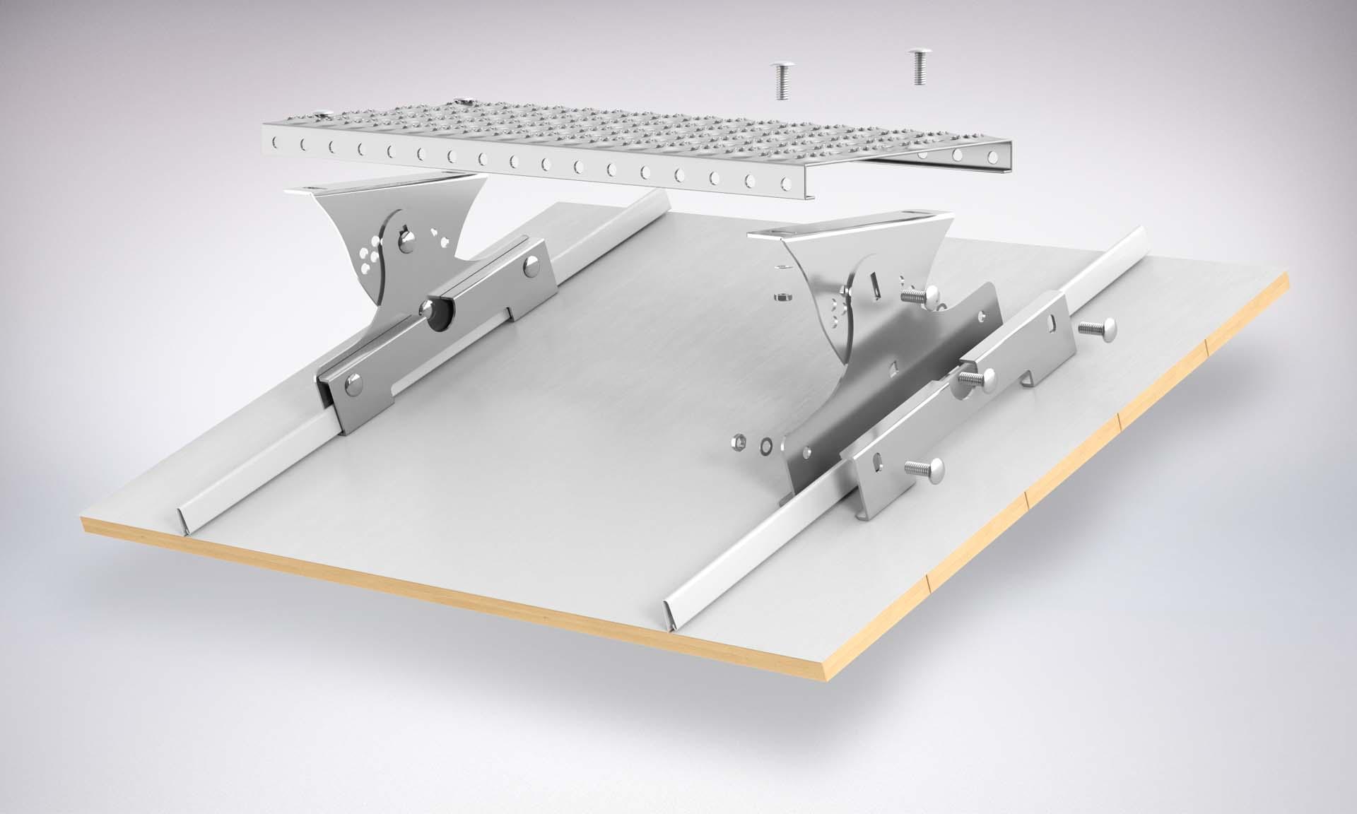 Montaż Zestawu Komunikacji dachowej na panele dachowe