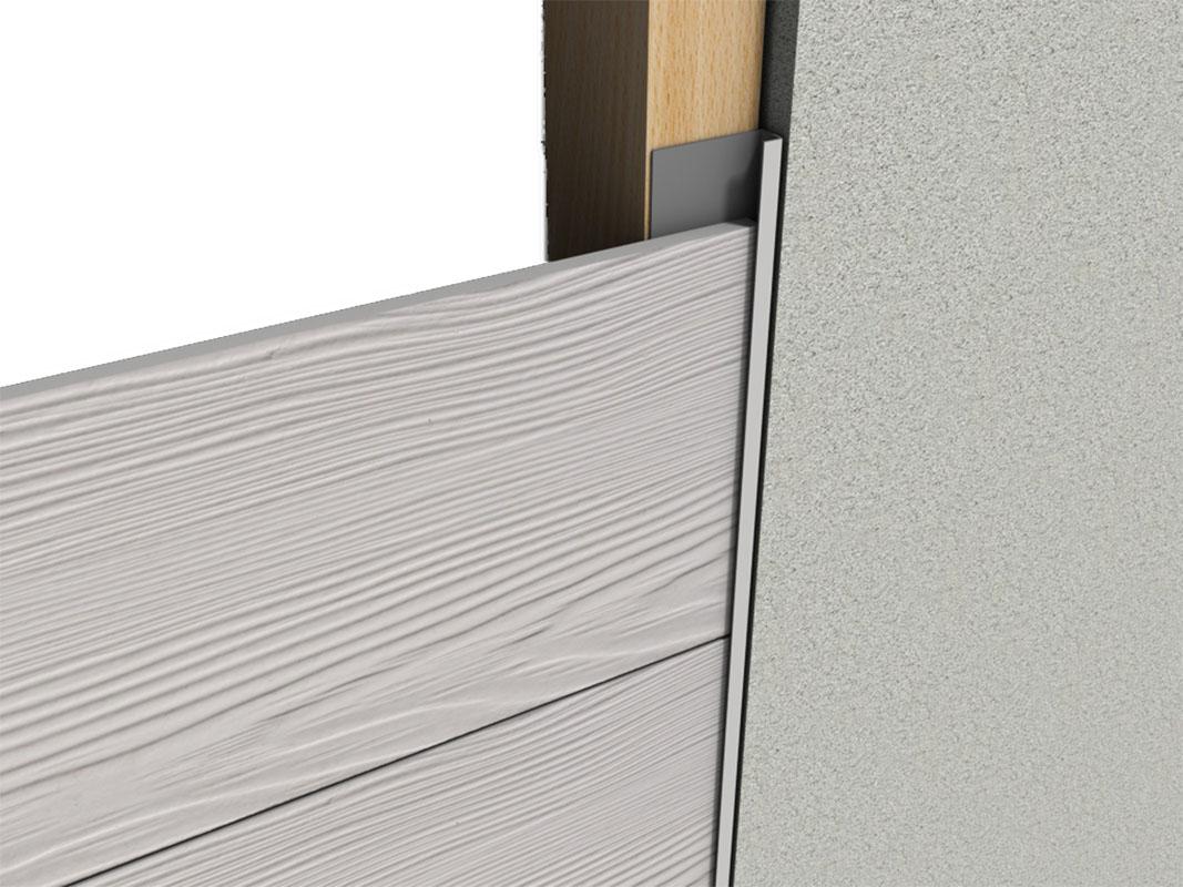 Profil aluminiowy elewacyjny J do elewacji wentylowanych