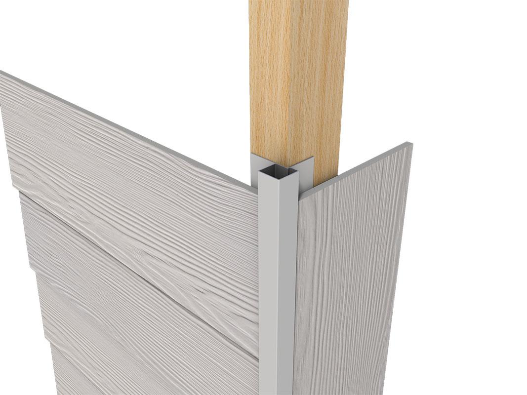 Profil aluminiowy elewacyjny asymetryczny do elewacji wentylowanych