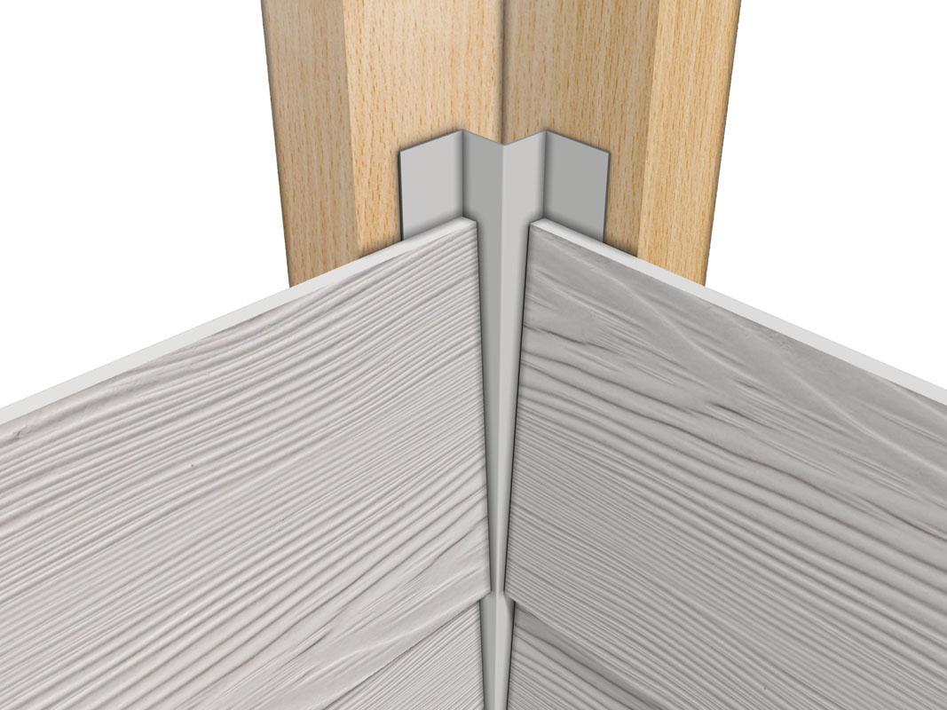 Profil aluminiowy elewacyjny wewnętrzny do elewacji wentylowanych