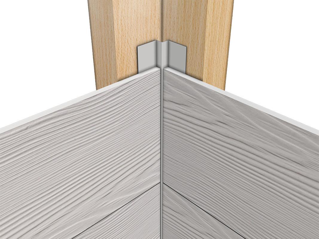 Profil aluminiowy elewacyjny wewnętrzny mini do elewacji wentylowanych