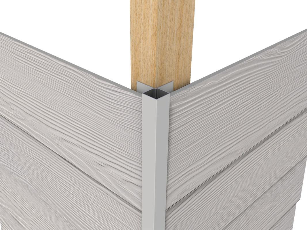 Profil aluminiowy elewacyjny – Narożnik zewnętrzny