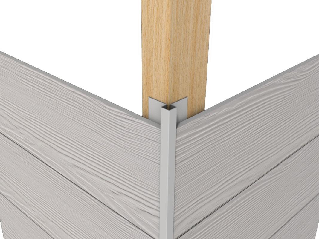 Profil aluminiowy elewacyjny – Narożnik zewnętrzny mini