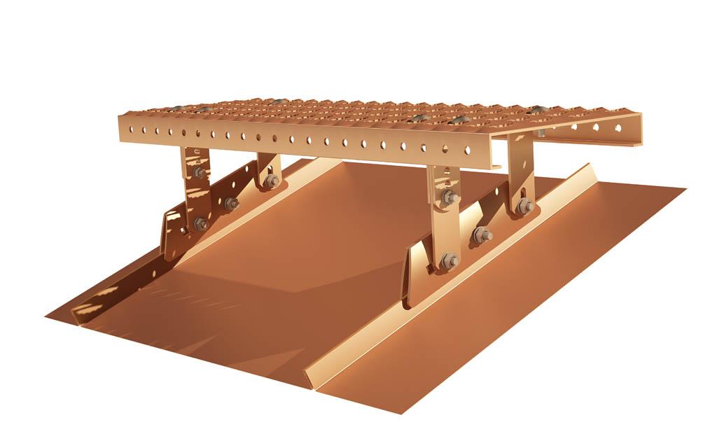 Zestaw Komunikacji Dachowej na rąbek stojący miedziany TYP2