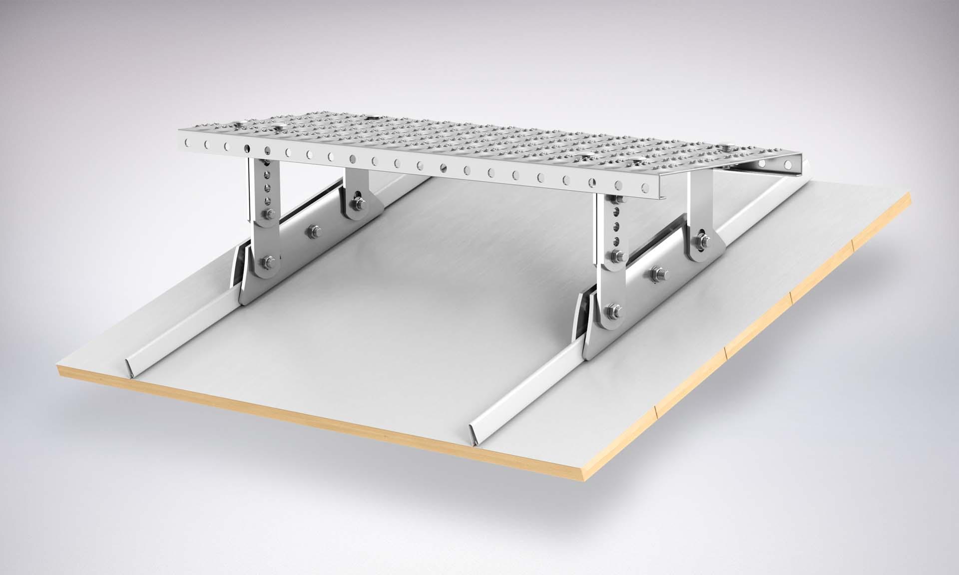 Zestaw Komunikacji dachowej na rąbek stojący aluminium